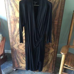 KAREN KANE dress faux wrap w rouching XL
